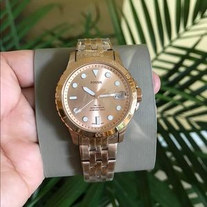 NWT Fossil Rose Gold Tone Stainless Steel Watch